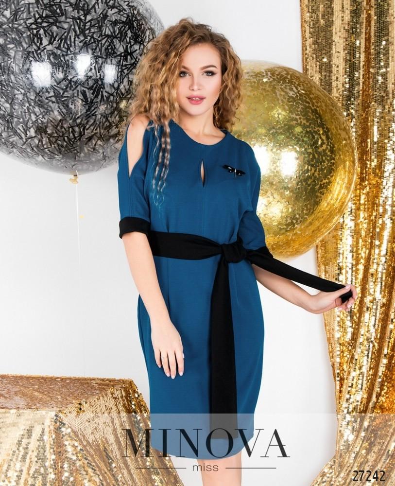 Платье №6122-бирюзовый