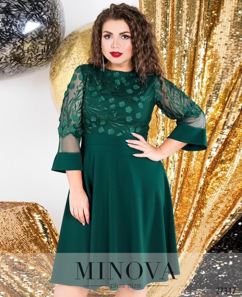 Платье №6108-1-зеленый