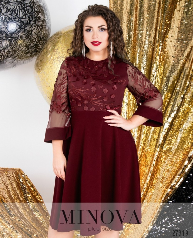 Платье №6108-1-бордо