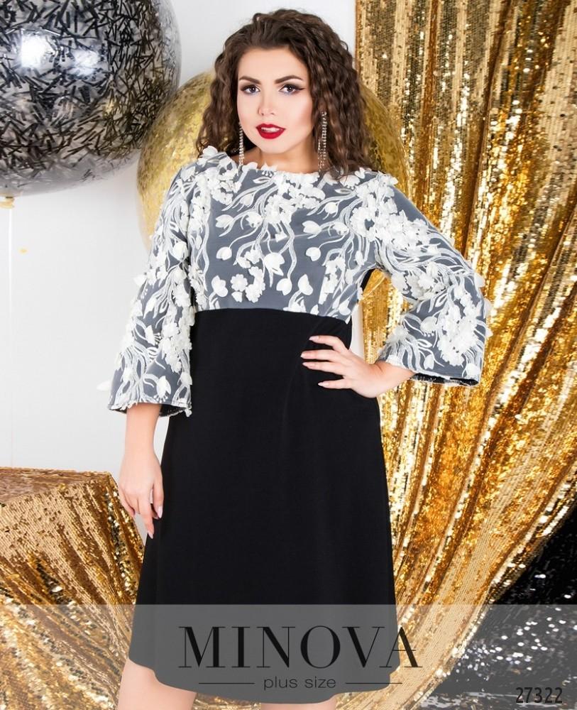 Платье №6121-1-черный
