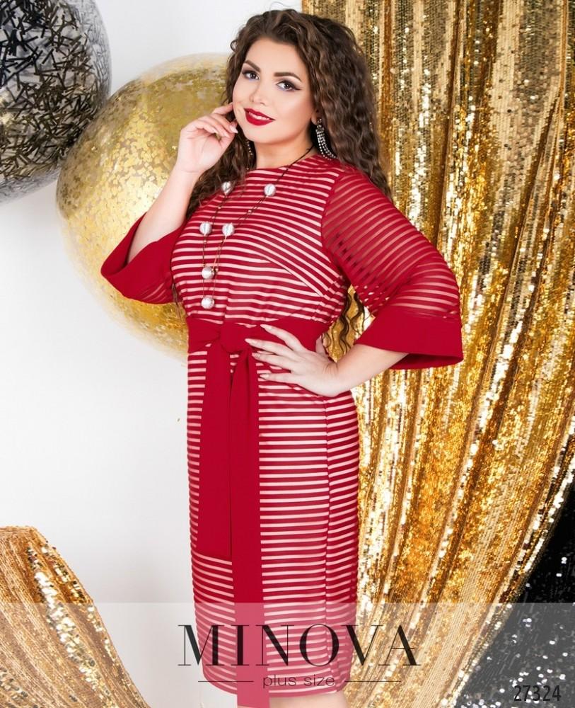 Платье №6126-1-красный