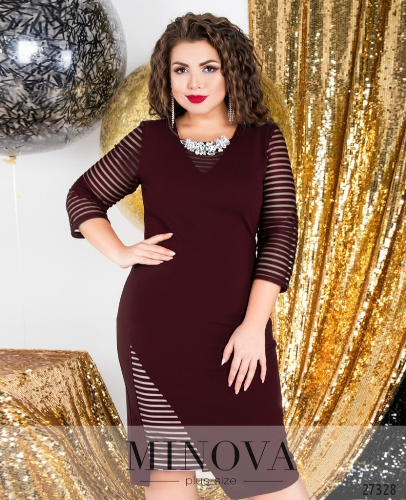 Платье №6125-1-бордо