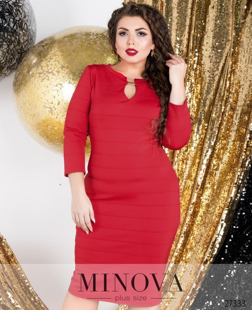 Платье №6049-1-красный