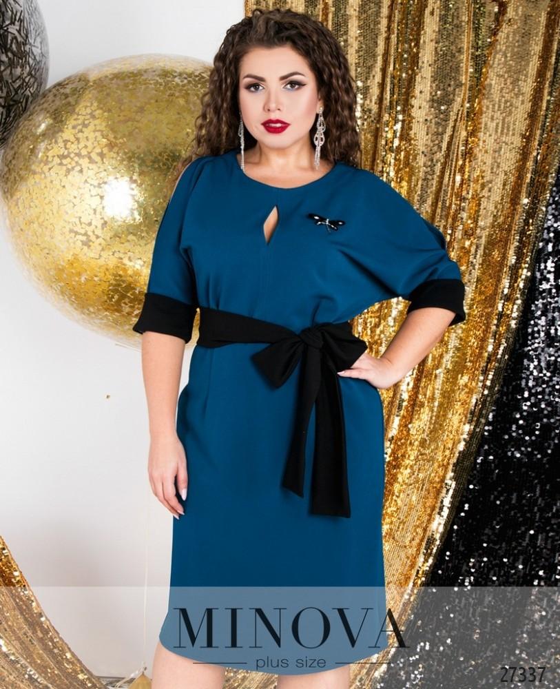 Платье №6122-1-бирюзовый