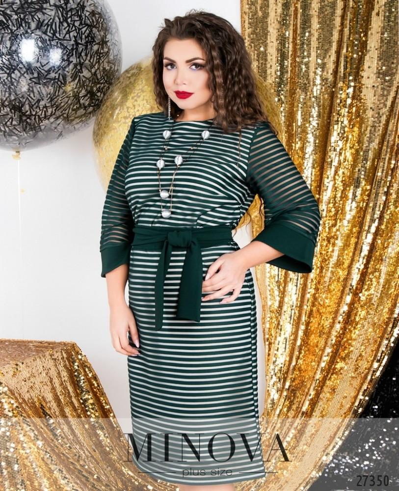 Платье №6126-1-зеленый