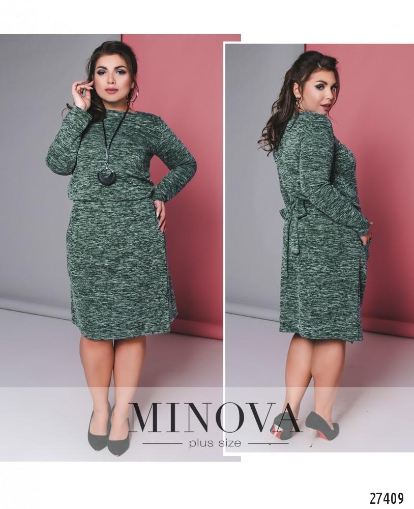 Платье №617-зеленый (б)