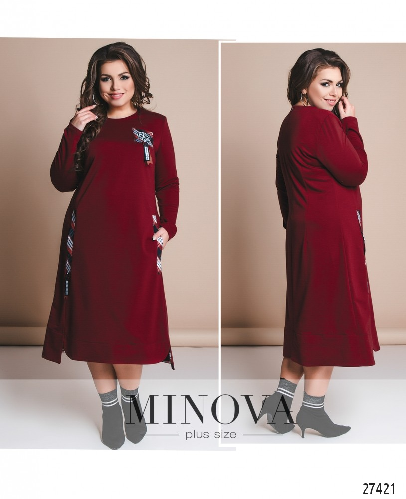 Платье №8-119-бордо (б)