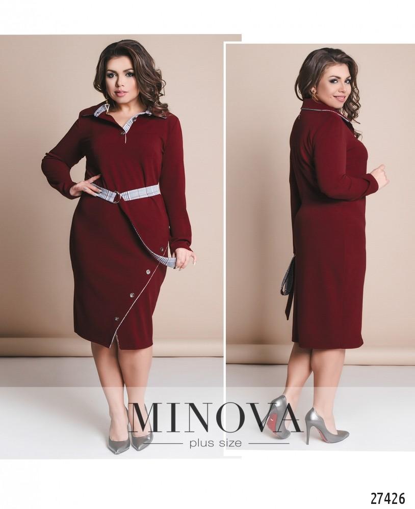 Платье №8-116-бордо (б)