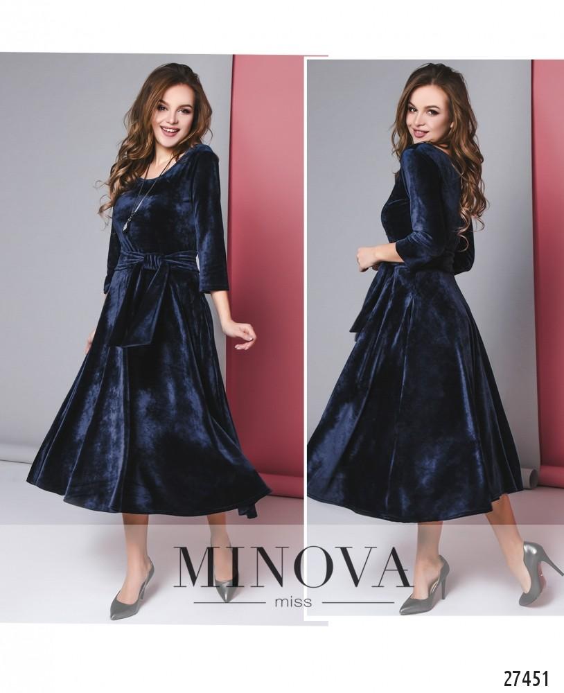 Платье №267-синий