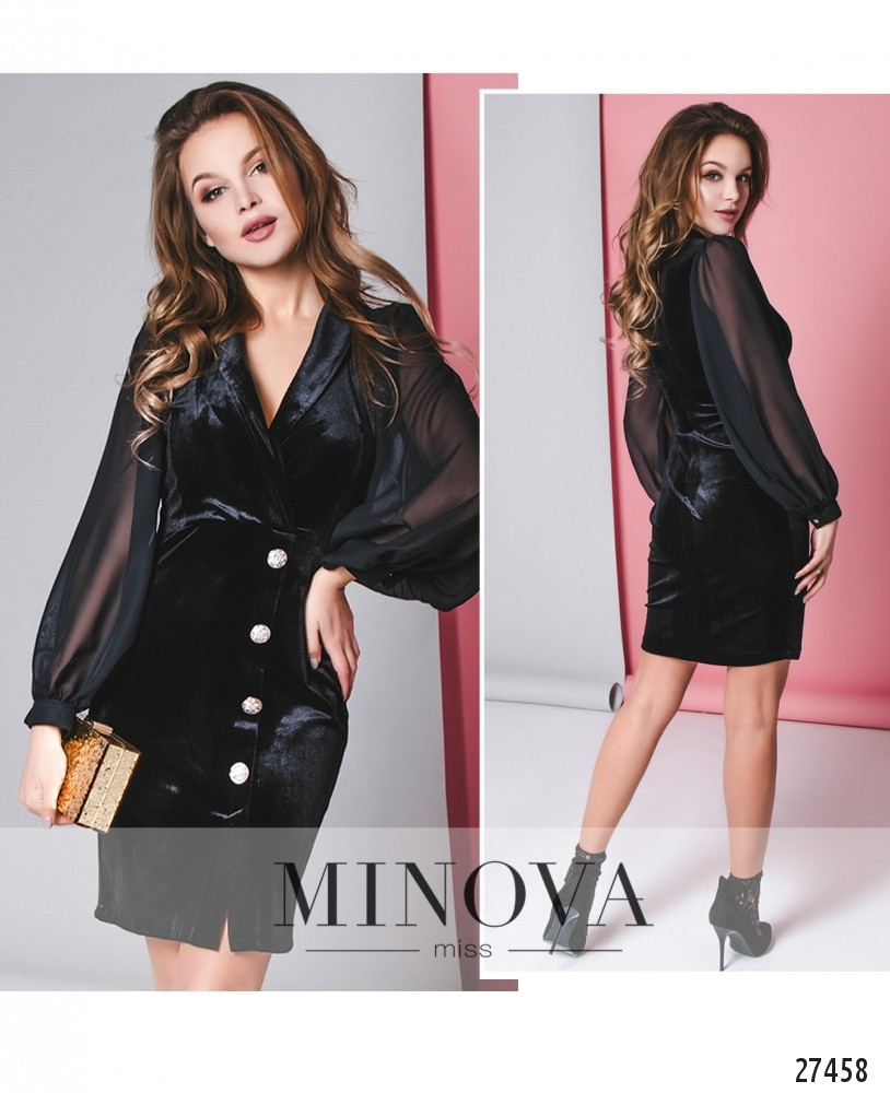Платье №8601-черный