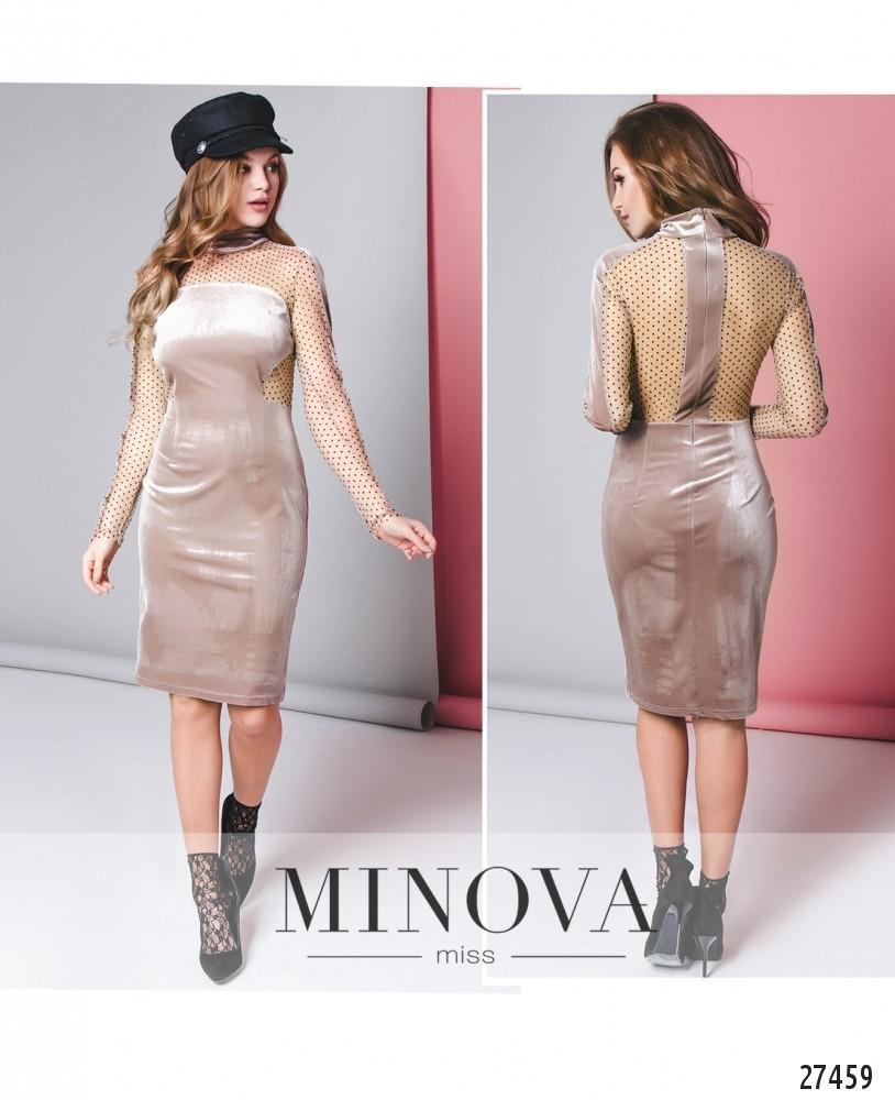 Платье №8599-каппучино