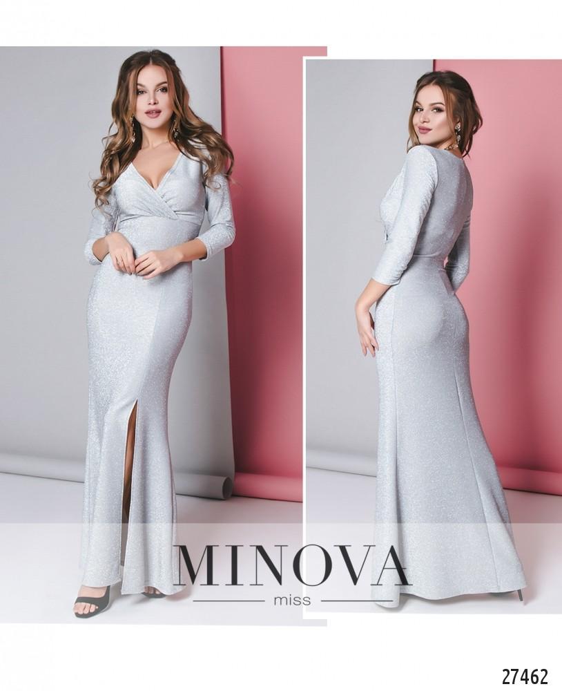 Платье №8600-светло-серый