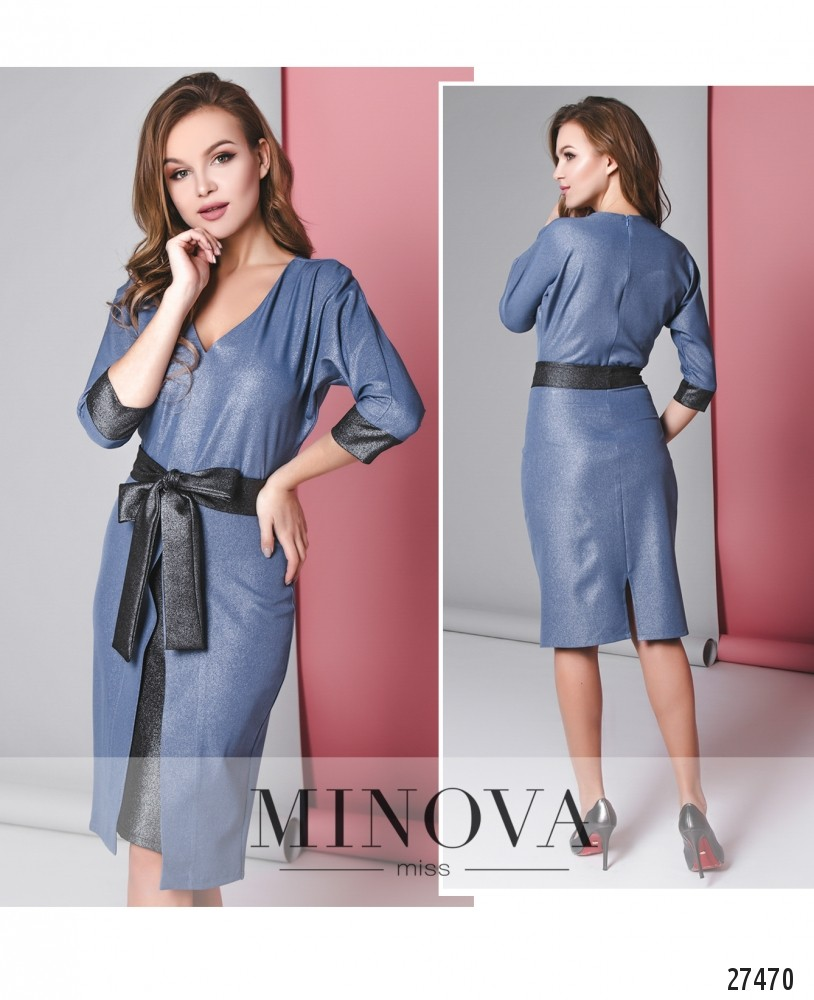 Платье №6135-синий
