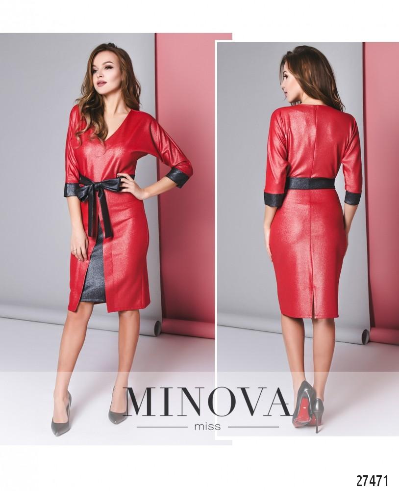 Платье №6135-красный