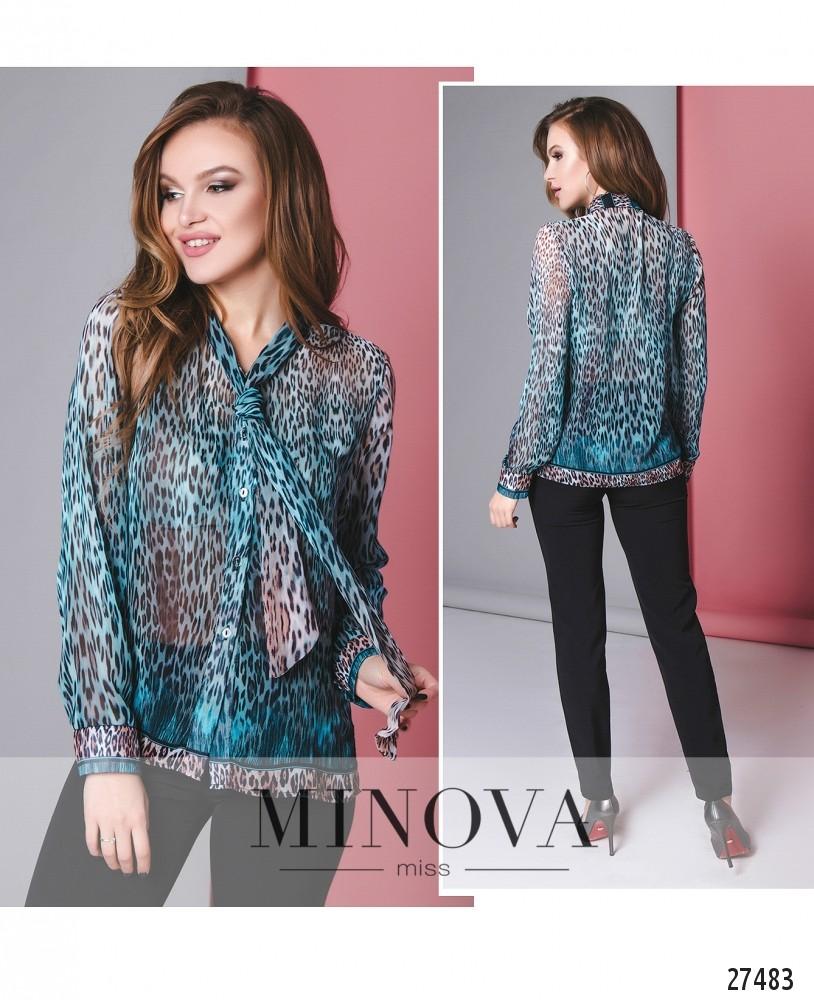 Блуза №3085.15-голубой