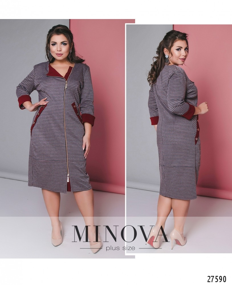 Платье №17-107-бордо (sale)