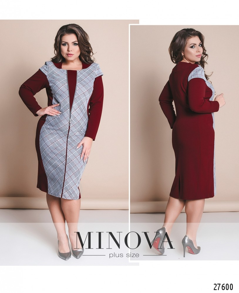 Платье №8-115-бордо (sale)
