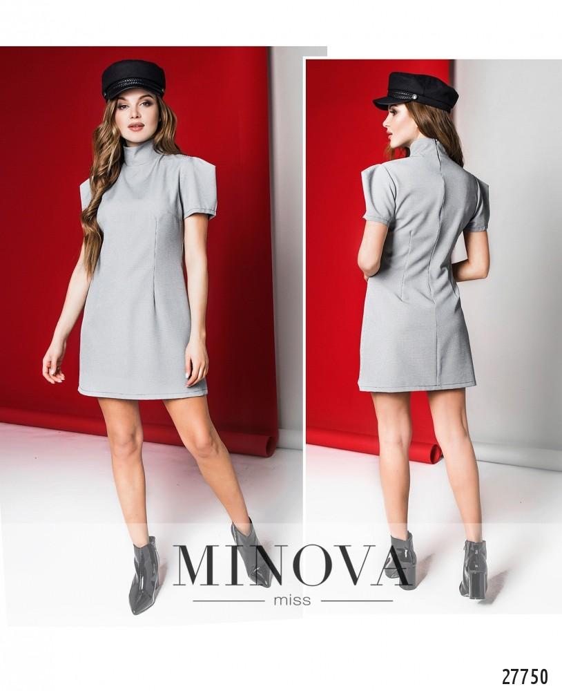 Платье №1282-светло-серый (sale)