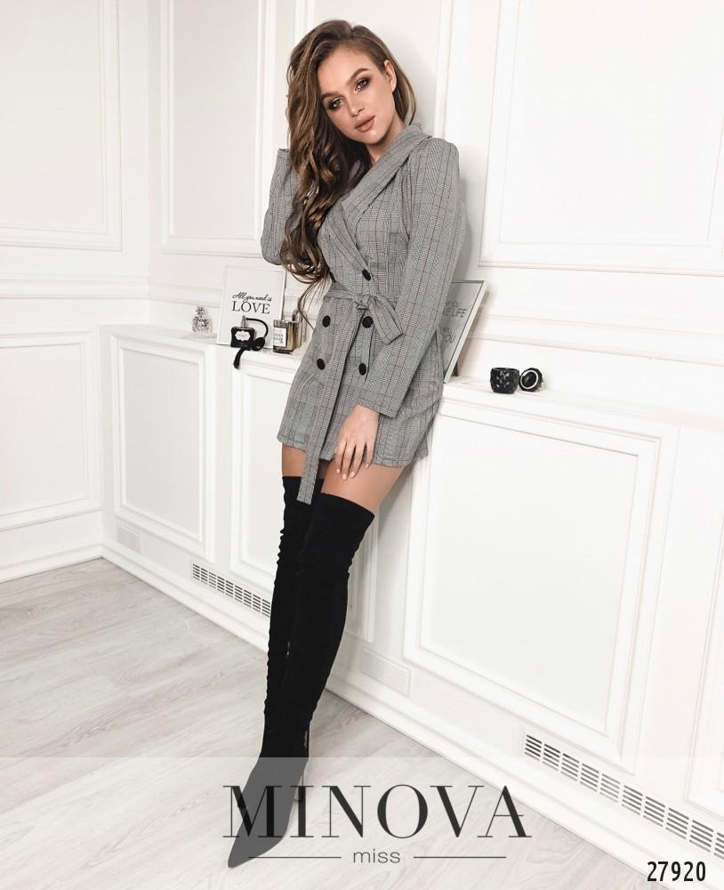 Платье №1294-серый