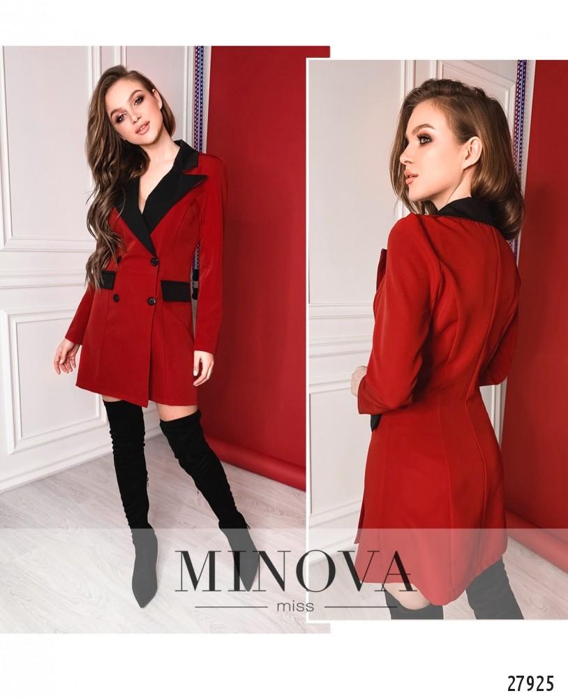 Платье №1259-красный