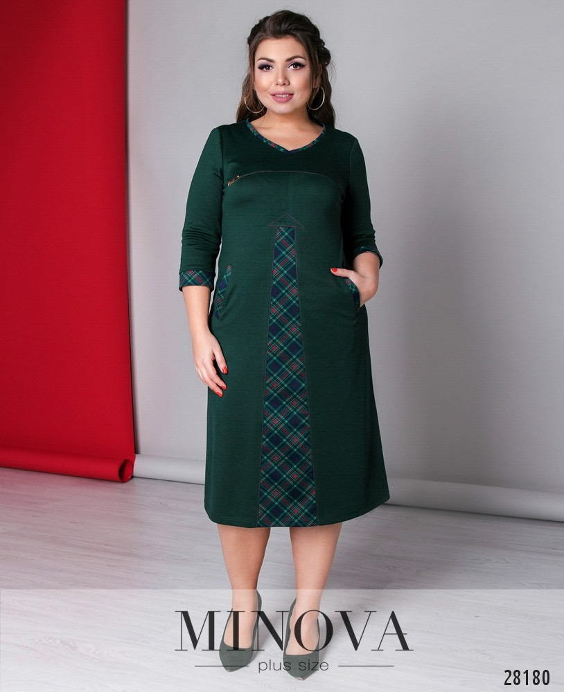 Платье №417-зеленый