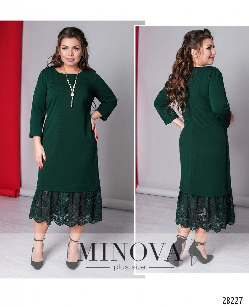 Платье №709-темно-зеленый (sale)