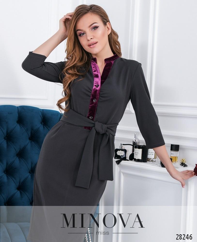 Платье №5145.20-серый