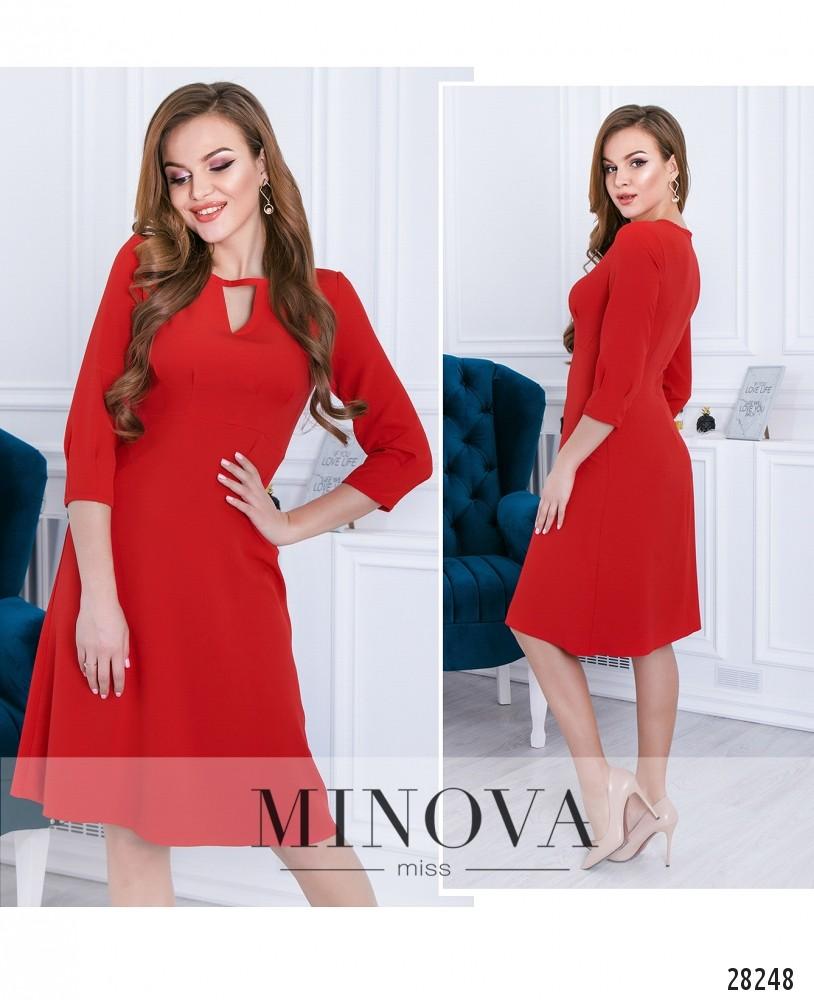 Платье №3114-красный