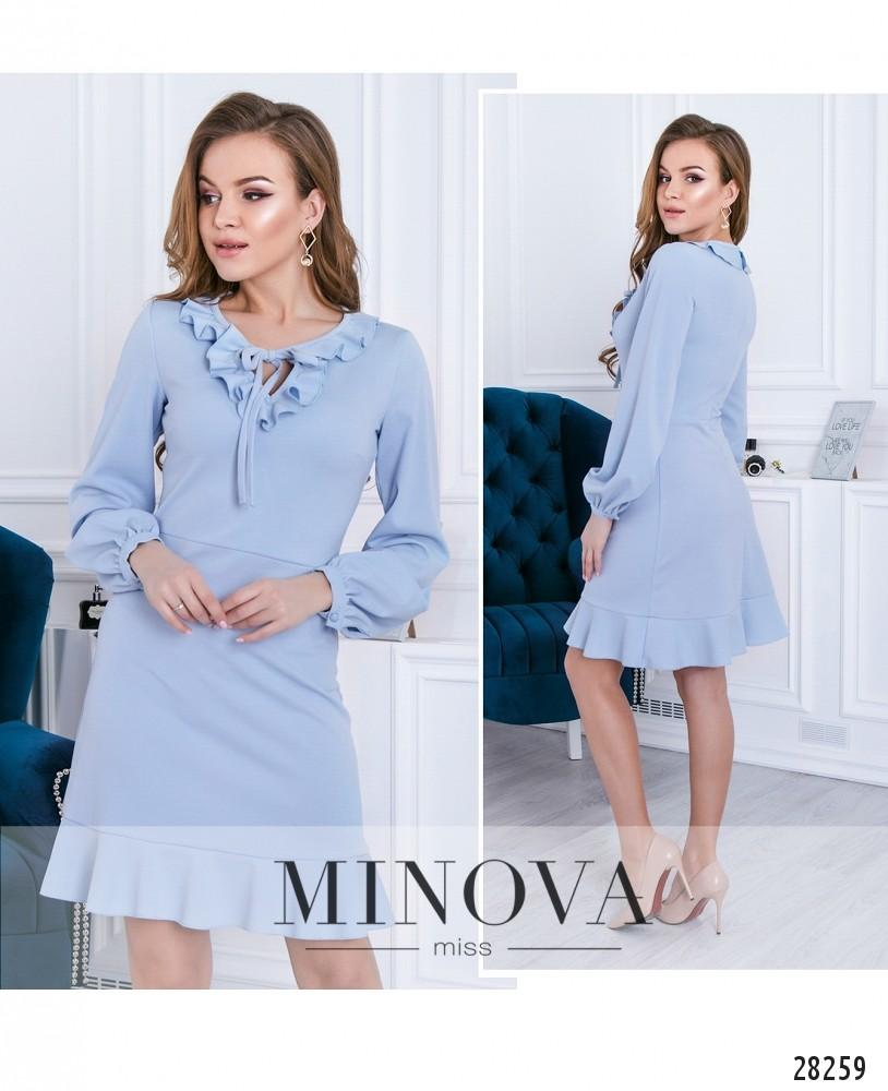 Платье №3112-голубой