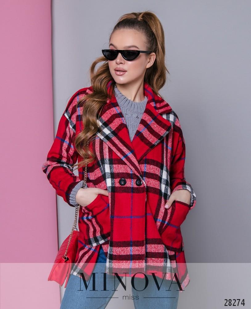 Пальто №637-красный