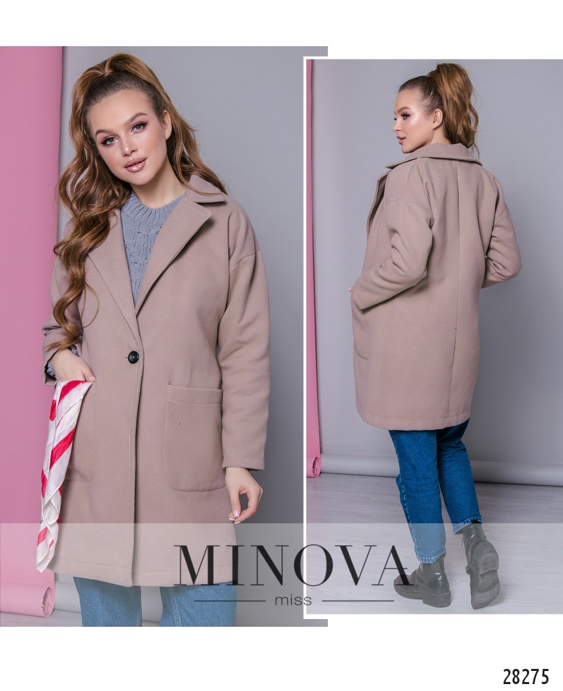 Пальто №636-капучино
