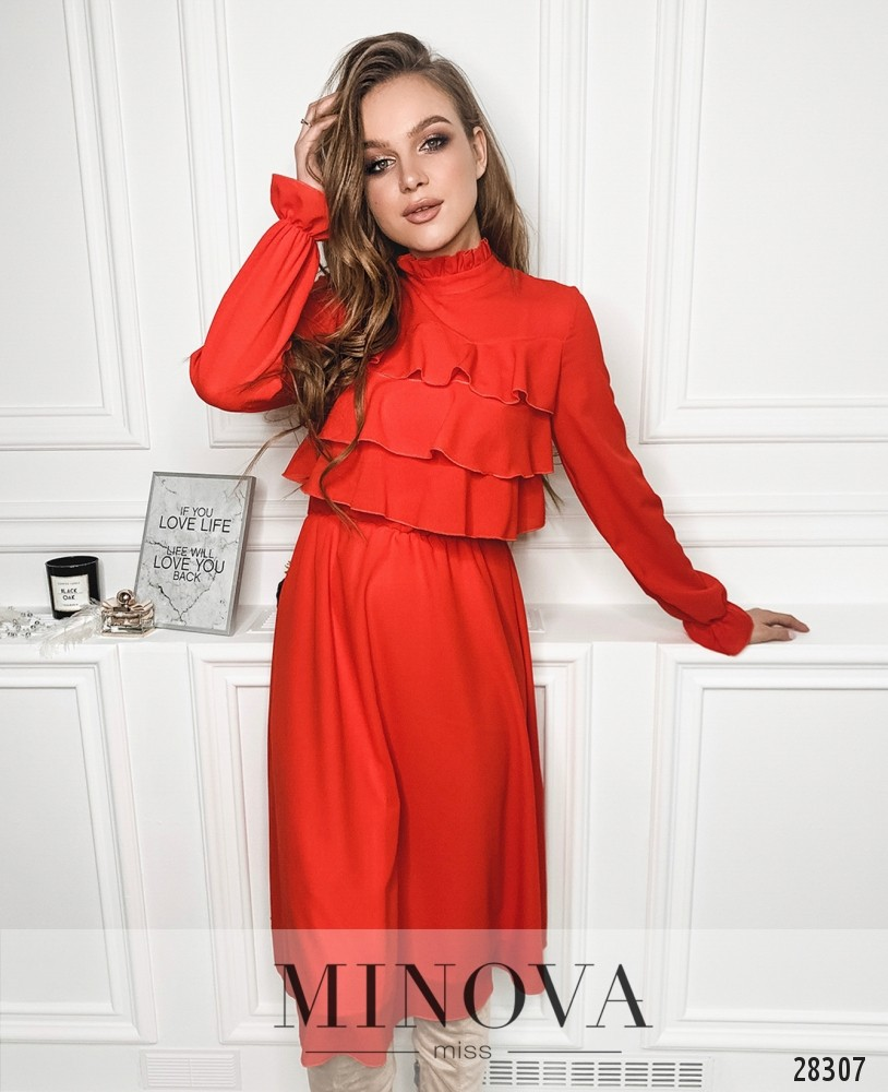 Платье №5137.20-красный