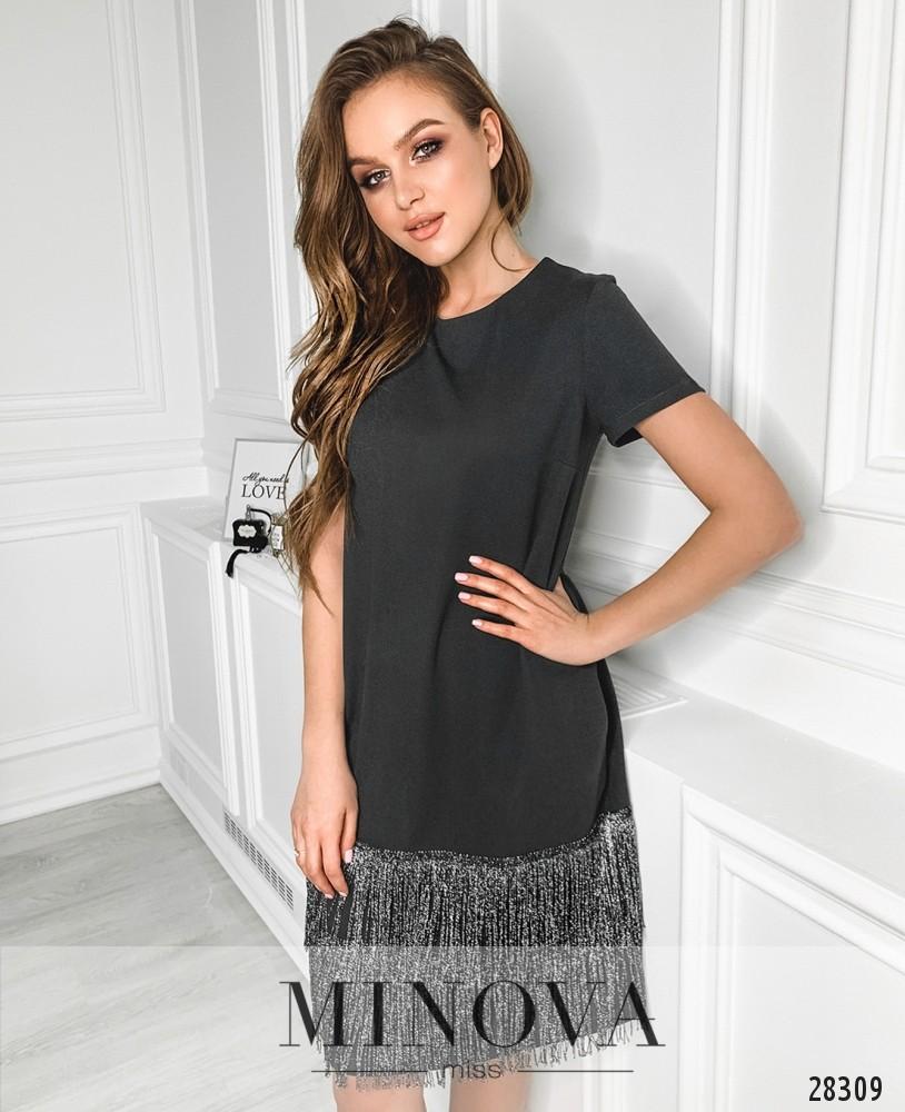 Платье №5147.21-темно-серый