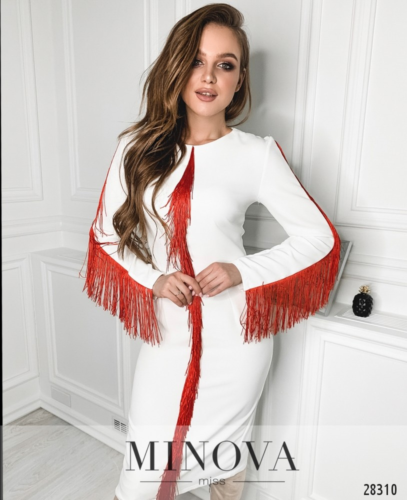 Платье №5146.21-молочный