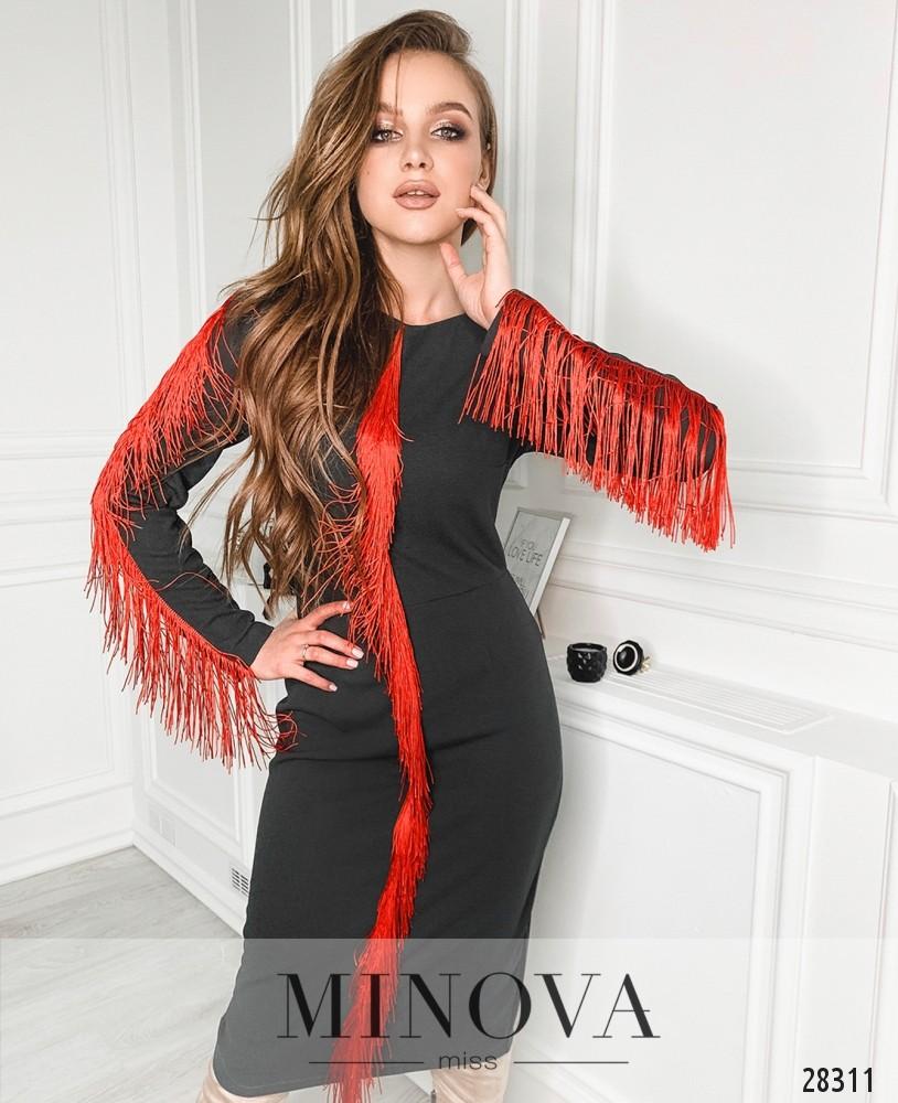 Платье №5146.21-темно-серый