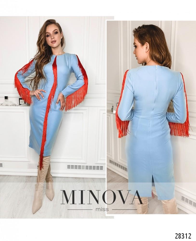 Платье №5146.21-голубой