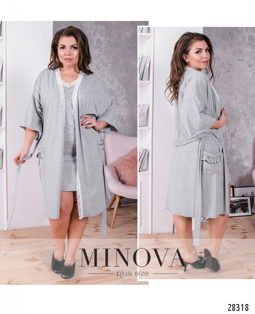 Пижамный комплект 2-ка №845-серый (sale)