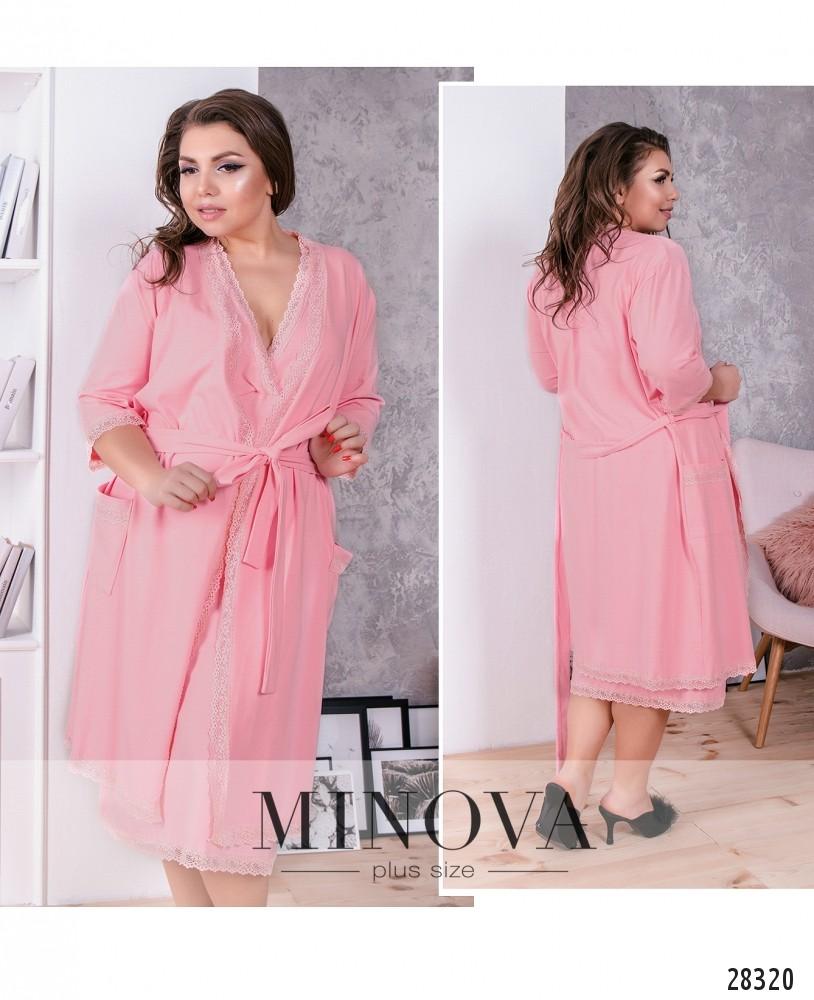 Пижамный комплект 2-ка №847-розовый