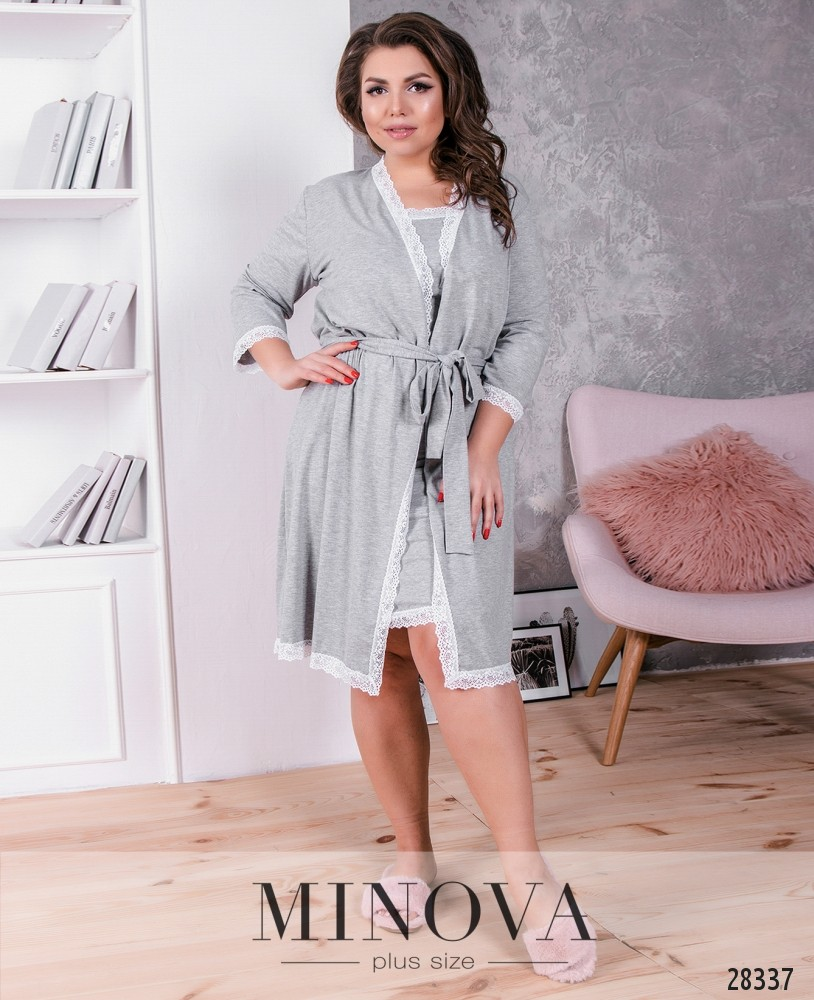 Пижамный комплект 2-ка №840-серый