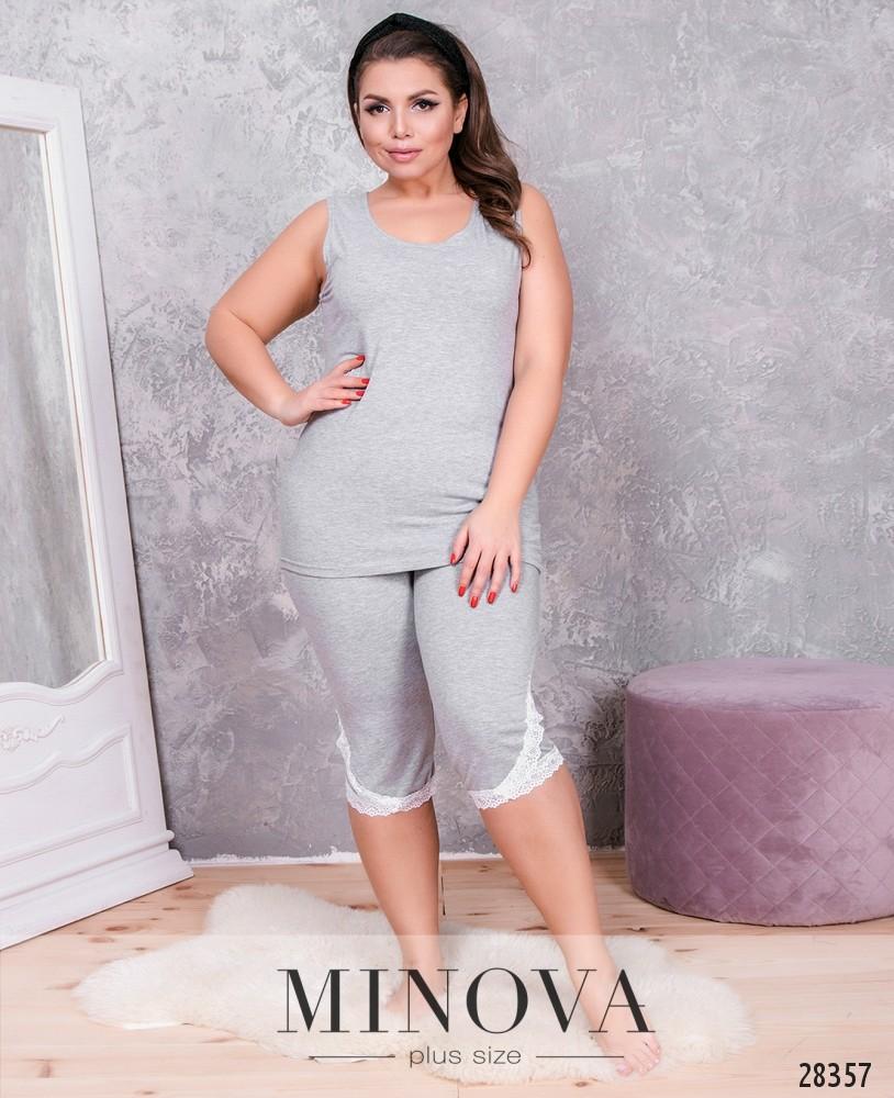 Пижама №846-серый