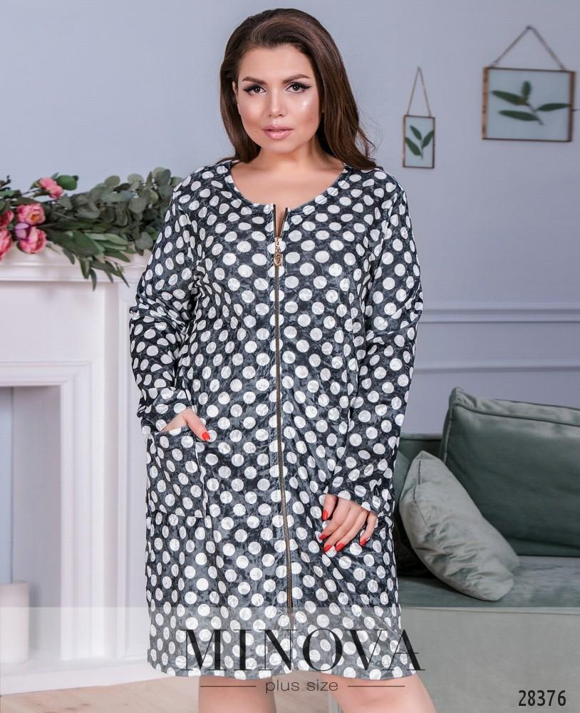 Платье №833-серый