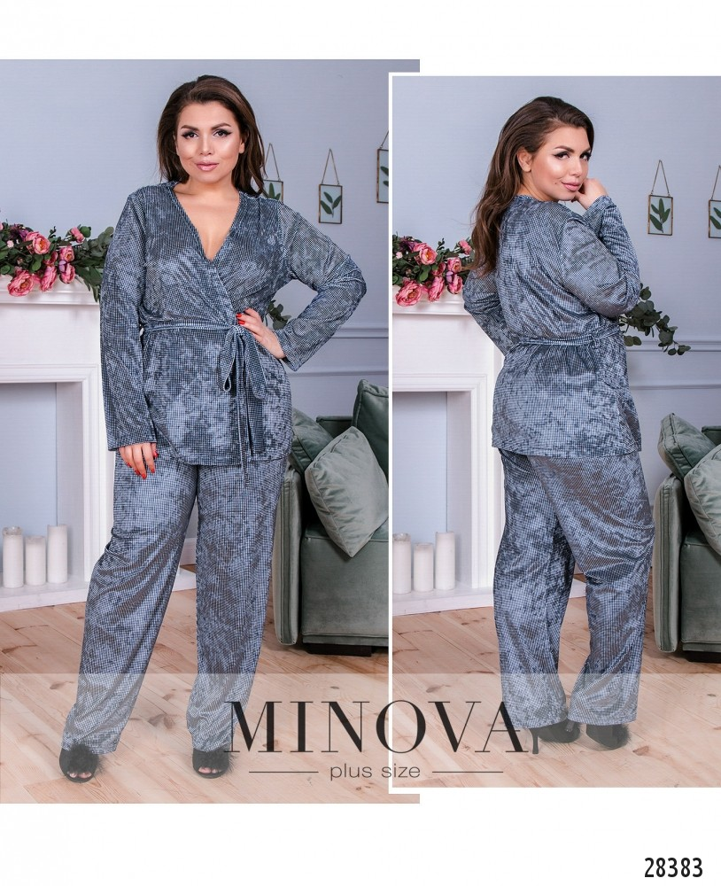 Пижамный костюм 2-ка №835-синий (sale)