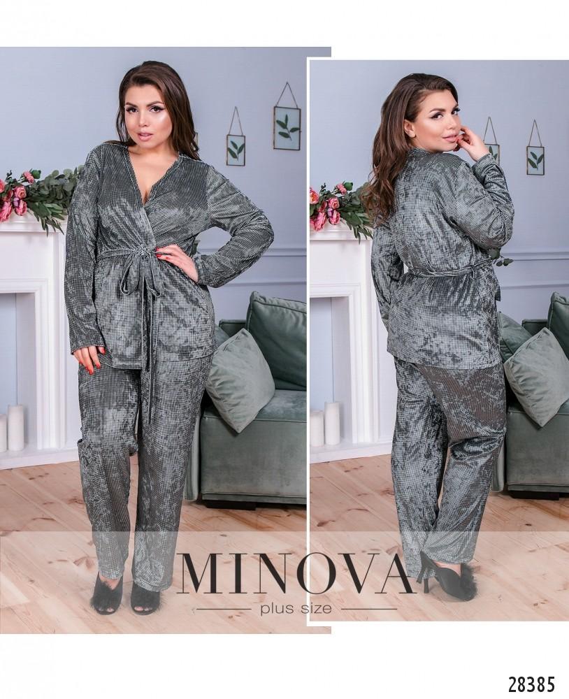 Пижамный костюм 2-ка №835-графит (sale)