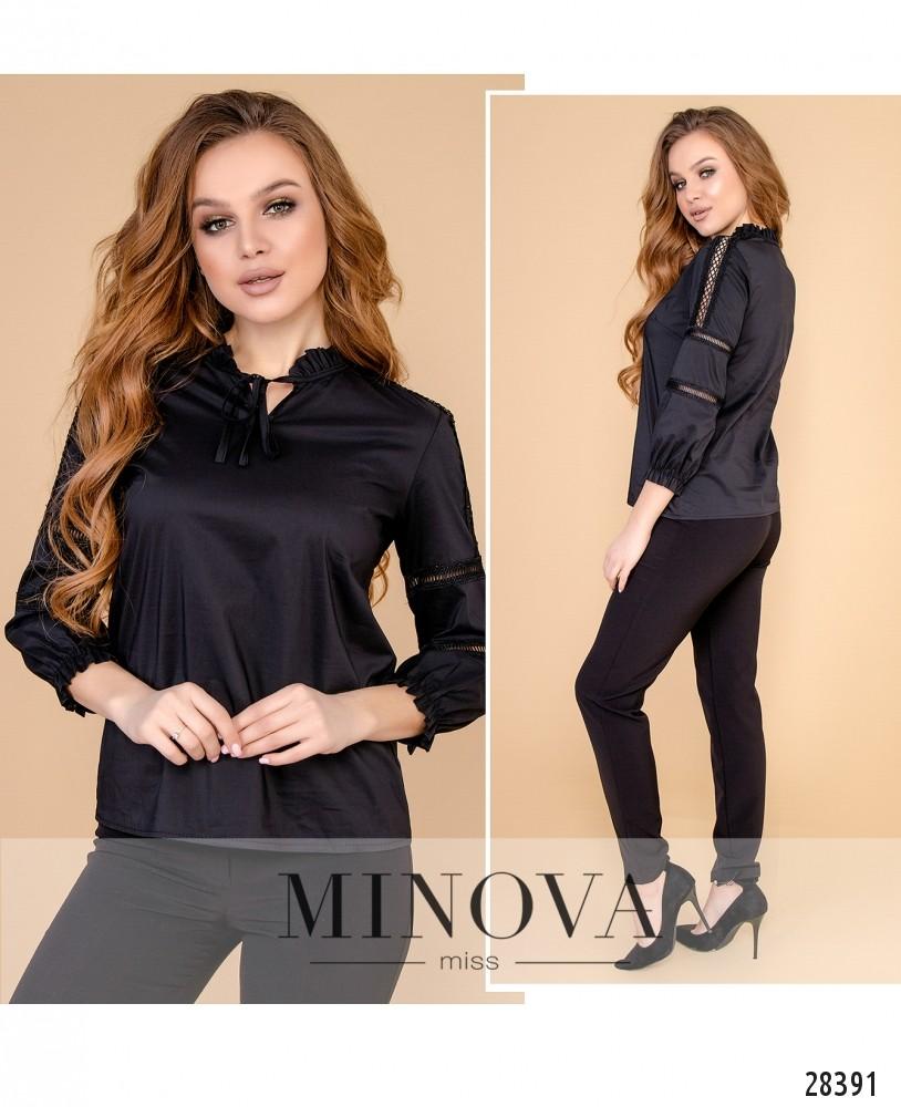 Блуза №4098-черный