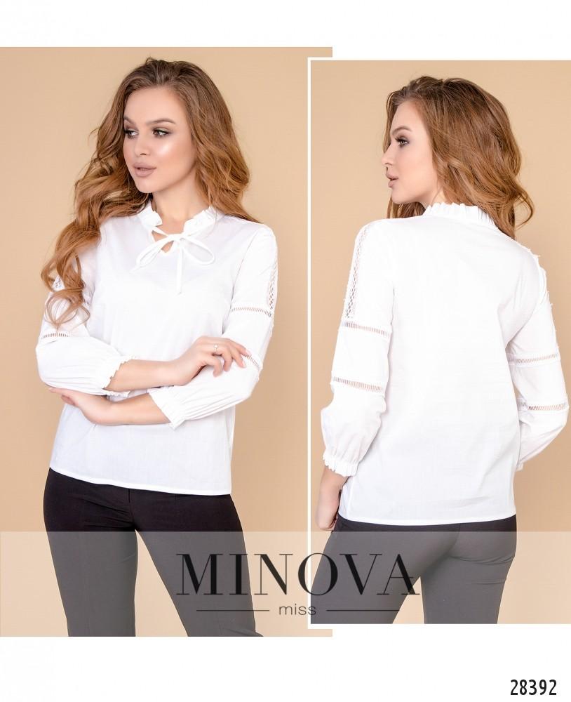 Блуза №4098-белый