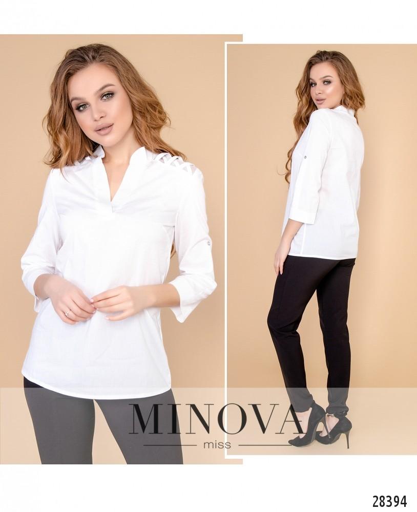 Блуза №4100-белый