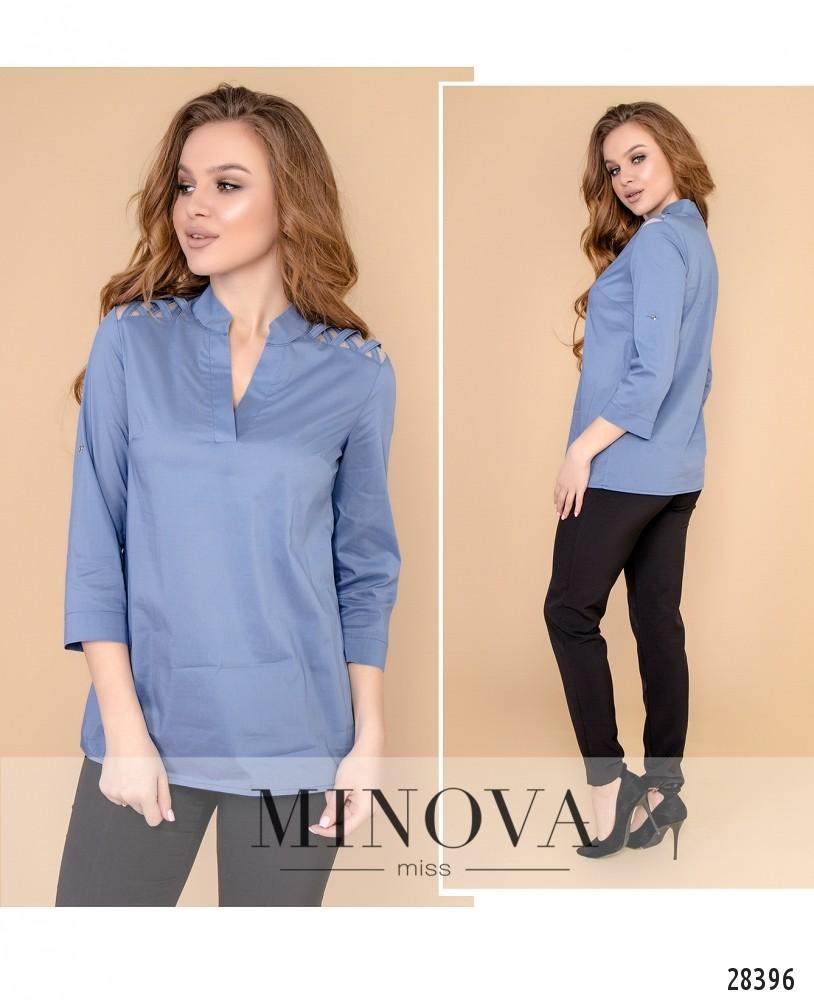 Блуза №4100-джинс