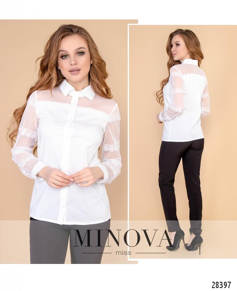 Блуза №1053-белый