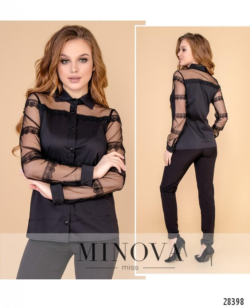 Блуза №1053-черный