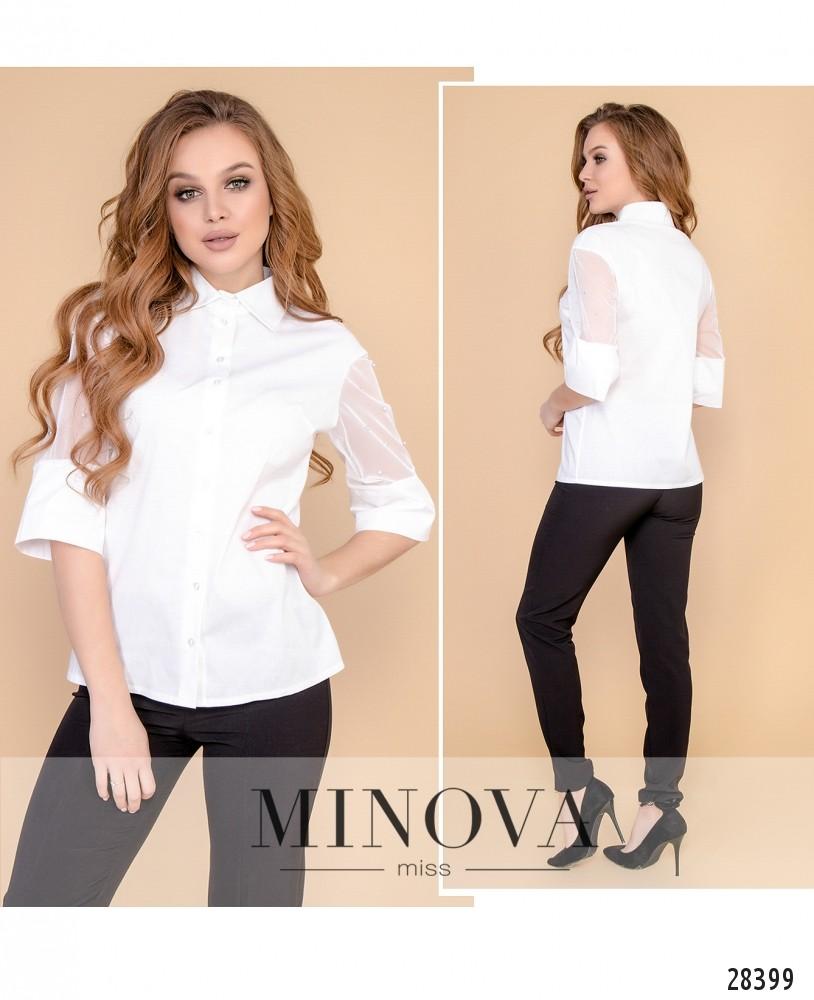 Блуза №4099-белый